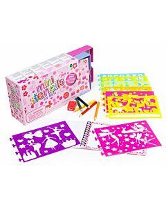 Meadow Kids: Mini Box Of Stencils - For Girls