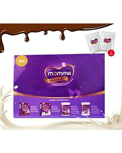 MOMMA Pregolact Mini Trial Pack - Mix *Vanilla Bliss + Chocolate Flavour* [2 Sachets] (30g)