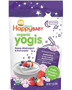Happy Baby: Happy Yogis - Organic Yogurt snacks - Mixed Berry