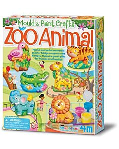 4M Mould & Paint Crafts | Zoo Animal - 15% OFF!!