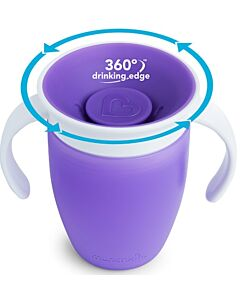 Munchkin: Miracle 360° Trainer Cup 7oz (Purple) - 20% OFF!!