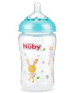 Nuby: Natural Touch Infant Bottle 9oz/270ml (0+ Months - Slow Flow) - Blue - 22% OFF!!