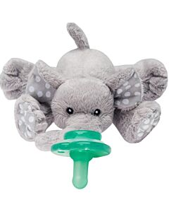 Nookums Paci-Plushies Ella Elephant Buddies™ Pacifier Holder (Plush Toy Includes Detachable Pacifier, Use with Multiple Brand Name Pacifiers) - 18% OFF!!