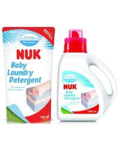 NUK: Baby Laundry Detergent 1000ml + FREE Baby Laundry Detergent Refill 750ml - 20% OFF!!