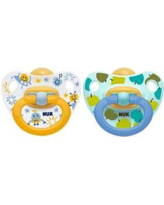 NUK: Orthodontic Latex Soother 0-6M - 2pcs (Pacifier) - Blue - 15% OFF!!