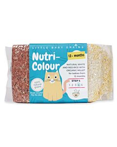 Little Baby Grains: Nutri-Colour | Natural White and Red Rice with Organic Millet (From 12+ Months) - 5% OFF!!