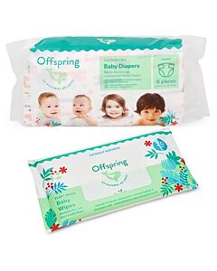 Offspring Trial Pack - Fashion Diapers M3 + Wipes 20s
