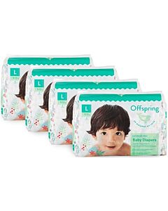 Offspring Fashion Diapers (Chlorine Free) L36 - Kitties *4 Pack Bundle*