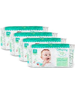 Offspring Fashion Diapers (Chlorine Free) M42 - Leaf *4 Pack Bundle*