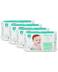 Offspring Fashion Diapers (Chlorine Free) S48 - Kitties *4 Pack Bundle*