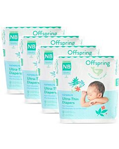 Offspring Featherlite Ultra-Thin Newborn Tape Diapers NB22 (up to 4kg) *4 pack bundle* - 22% OFF!!