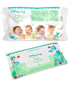 Offspring Trial Pack - Fashion Pants L3 + Wipes 20s