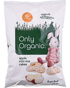Only Organic: Baby Apple Rice Cakes 40g
