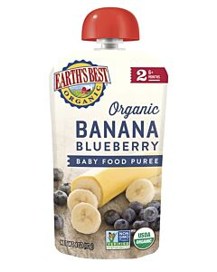 Earth's Best: Organic Banana & Blueberry Puree (Stage 2 - From 6 Months) 120g - 10% OFF!