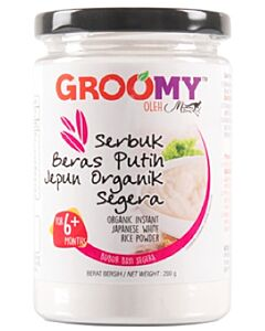Groomy Organic Instant Japanese White Rice Powder 200g (For 6+ Months) - 35% OFF!!