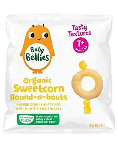 Little Bellies: Organic Round-A-Bouts - Sweetcorn - 16% OFF!!