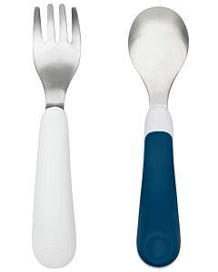 OXO TOT: Fork & Spoon Set - Navy - 15% OFF!