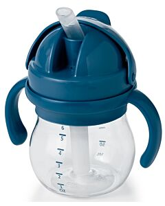 OXO TOT: Grow Straw Cup With Removable Handles (6oz/150ml) - Navy - 20% OFF!