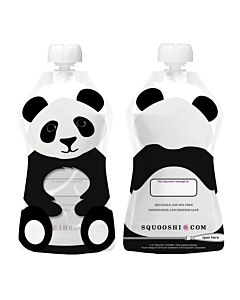Squooshi: Large Food Storage Pouch (Panda) 130ml - 20% OFF!!