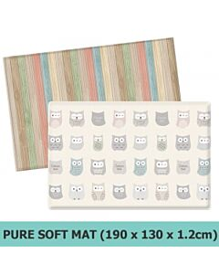 Parklon PVC Pure Soft Mat (Double Sided) - Cotton Owl + Color Wood (M) - 27% OFF!!