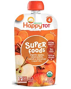 Happy Baby Organic Apples, Sweet Potato, Carrots & Cinnamon + Super Chia 120g (Stage 4) - 10% OFF!!