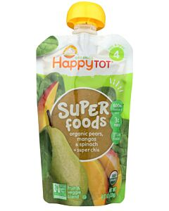 Happy Baby Organic Pears, Mangos & Spinach + Super Chia 120g (Stage 4) - 10% OFF!!