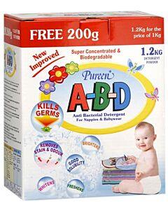 Pureen Anti Bacterial Powder Detergent (A-B-D) 1kg FREE 200g - 23% OFF!!