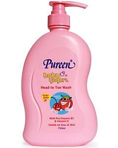 Pureen Baby Yogurt Head To Toe Wash (Peach & Cherry) 750ml - 10% OFF!!