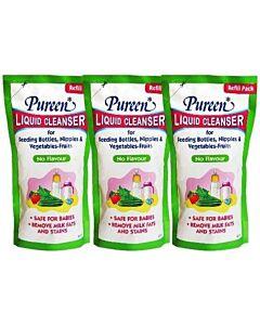 Pureen: Liquid Cleanser Refill (No Flavour) 600ml x 3 PACKS - 22% OFF!! (only RM12.7 each!)