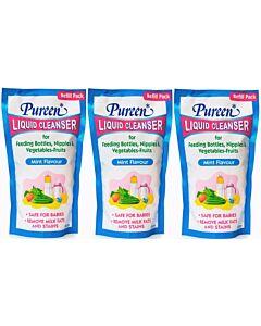 Pureen: Liquid Cleanser Refill (Mint) 600ml x 3 PACKS - 22% OFF!! (only RM12.7 each!)
