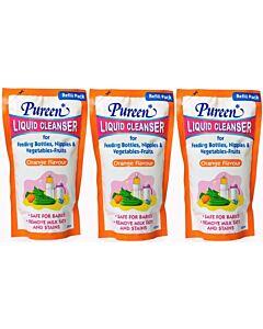 Pureen: Liquid Cleanser Refill (Orange) 600ml x 3 PACKS - 22% OFF!! (only RM12.7 each!)
