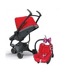 Quinny Zapp Flex Stroller   Red on Graphite - 30% OFF!! + FREE!! Maxi Cosi Cabriofix Travel System