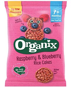 Organix Finger Foods Raspberry & Blueberry Rice Cakes 50g (7+ Months)