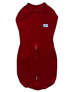 Gugu Premium Zipped Swaddle - Red Plain Tot Swaddle