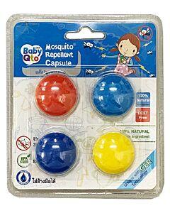 BabyQto: Mosquito Repellant Bracelet Refill Capsule 4's (Blue) - 10% OFF!!