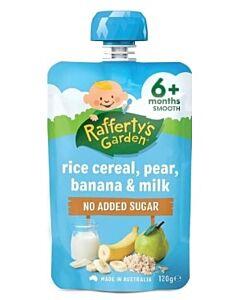 Rafferty's Garden: Rice Cereal, Pear, Banana & Milk 120g (6+ Months) - 14% OFF!!