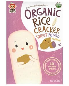 Apple Monkey: Organic Rice Cracker - Sweet Potato Flavour (10 sachets inside) 30g - 10% OFF!!