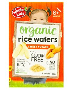 Whole Kids: Organic Rice Wafers - Sweet Potato 20gm [5 packs] (From 8+ Months) - 10% OFF!!