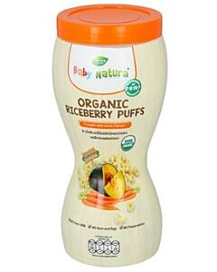 Baby Natura: Organic Riceberry Puffs - Pumpkin with Carrot Flavour - 15% OFF!!