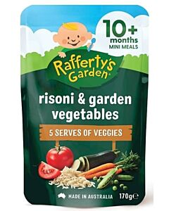 Rafferty's Garden: Risoni & Garden Vegetables Mini Meal 170g (10+ Months) - 14% OFF!!