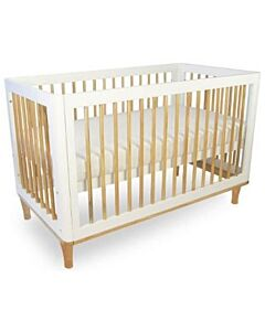Babyhood: Riya Cot (White) + My First Breathe Eze Innerspring Mattress + 5pcs Bedding Set - 23% OFF!!