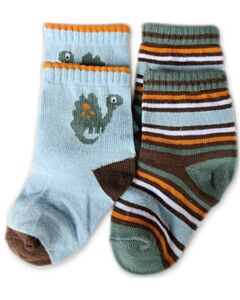 Bumble Bee: Socks - Dinosaur Socks 2 Pairs (12-24 months)