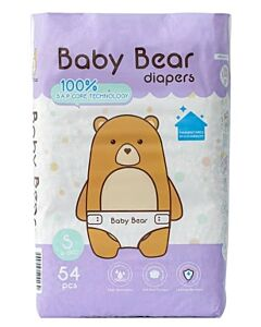 BB Diapers - Baby Bear Diapers S54 (4 - 6kg)