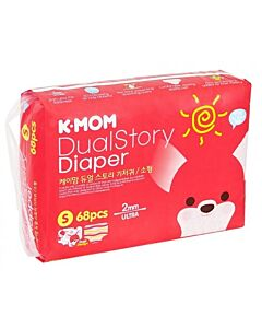 K-MOM Dual Story Diaper S 68pcs (4kg - 8kg) - 10% OFF!!