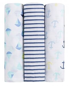Aden+Anais Ideal Baby Muslin Swaddling - Set Sail (3 pack) - 30% OFF!!