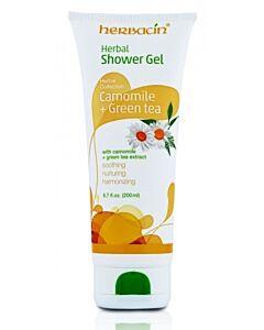 Herbacin: Herbal Shower Gel with Camomile + Green Tea (200ml) - 5% OFF!
