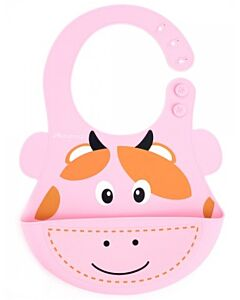 Autumnz: Adjustable Soft Silicone Bib - Cow - 25% OFF!!