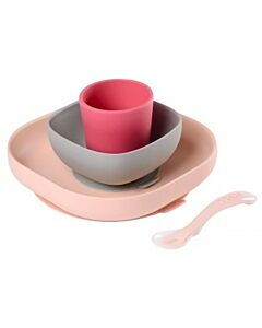 Beaba: Silicone Meal Set (Pink) (4+ Months) - 20% OFF!!