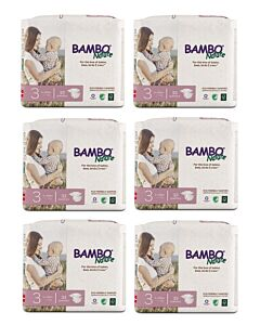 Bambo Nature Dream Midi Diaper | 33 Pieces - Size 3 (4 - 9kg) [6 PACK BUNDLE] - 20% OFF!!