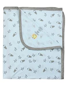 Baa Baa Sheepz: Single Layer Blanket Small Star & Sheepz (Blue) - 10% OFF!!